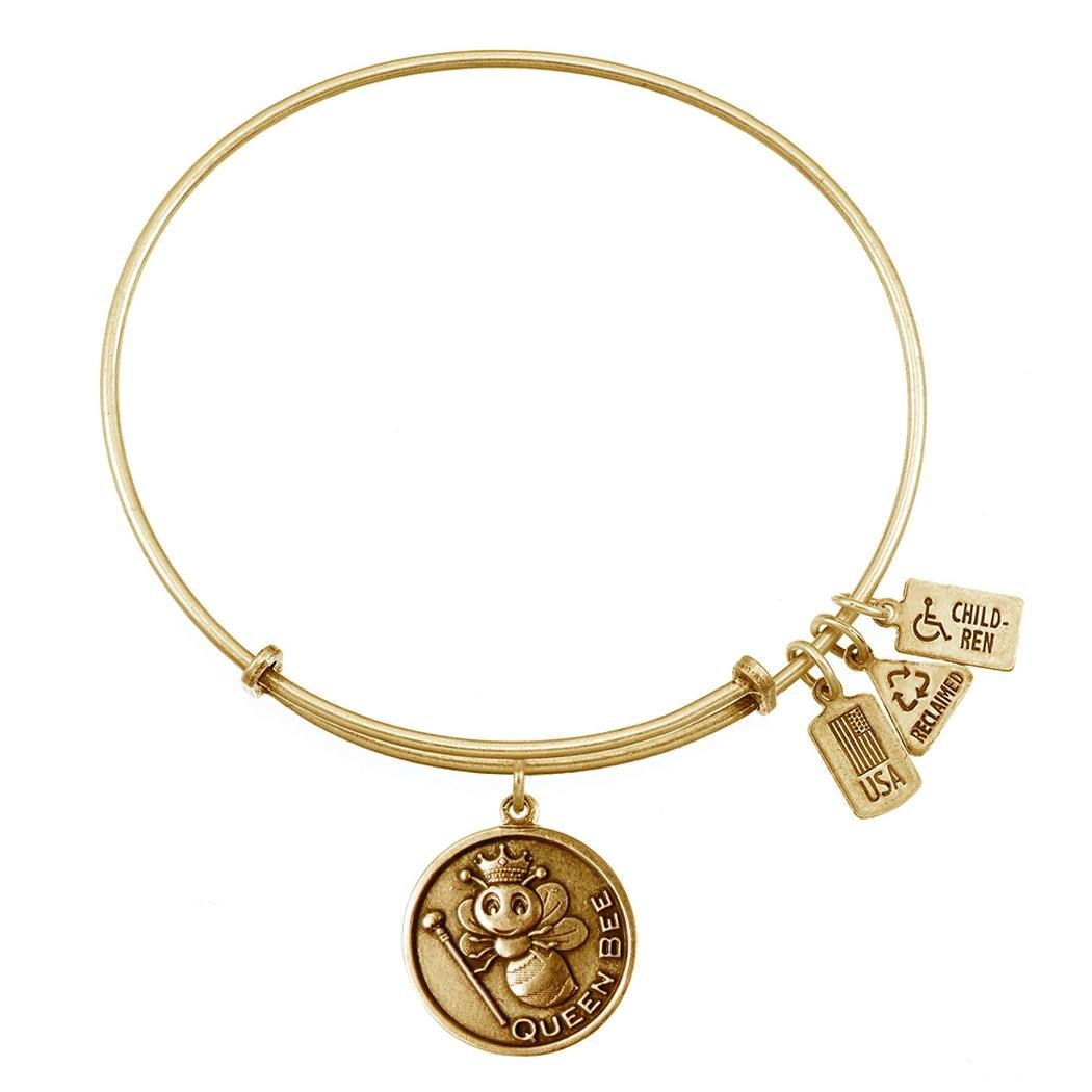 Queen Bee Charm Bangle (Gold Style)