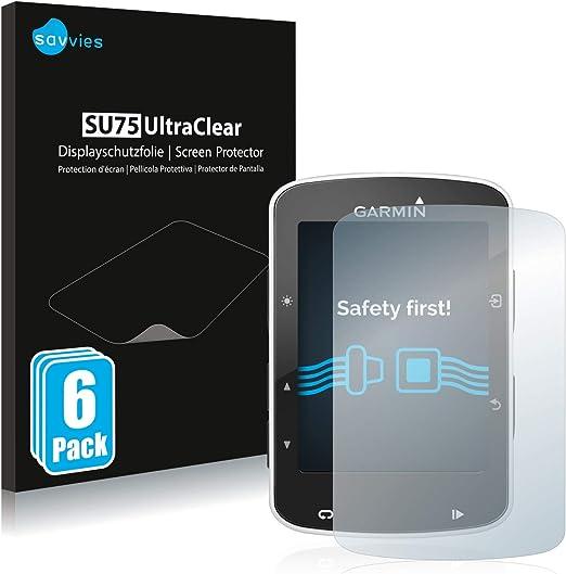 savvies Protector Pantalla Compatible con Garmin Edge 520/820 (6 ...