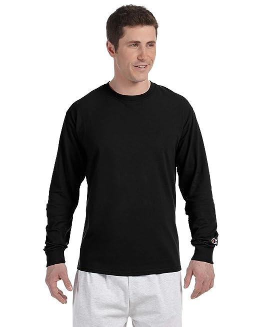2eb4681a4905 Champion CC8C 5.5 oz. Long-Sleeve Tagless T-Shirt: Amazon.ca ...