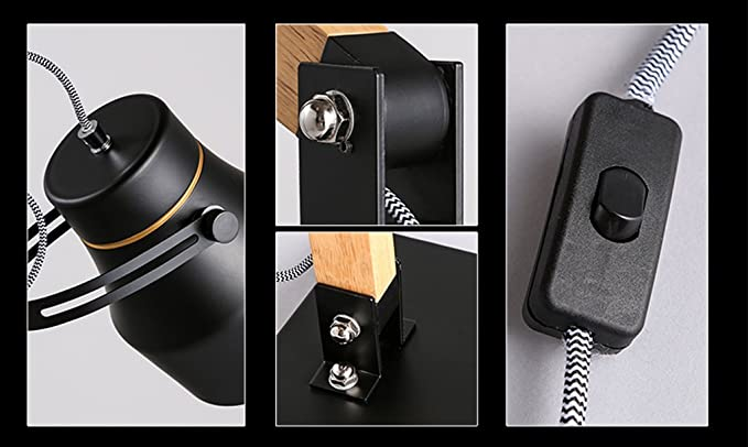 nórdica Modern simplicity led Luz natural Aprender leer Plegador de brazos largo Lámpara de escritorio botón de interruptor 700 × 240mm Creativo simple HJHY® Lámpara de mesa de madera maciza