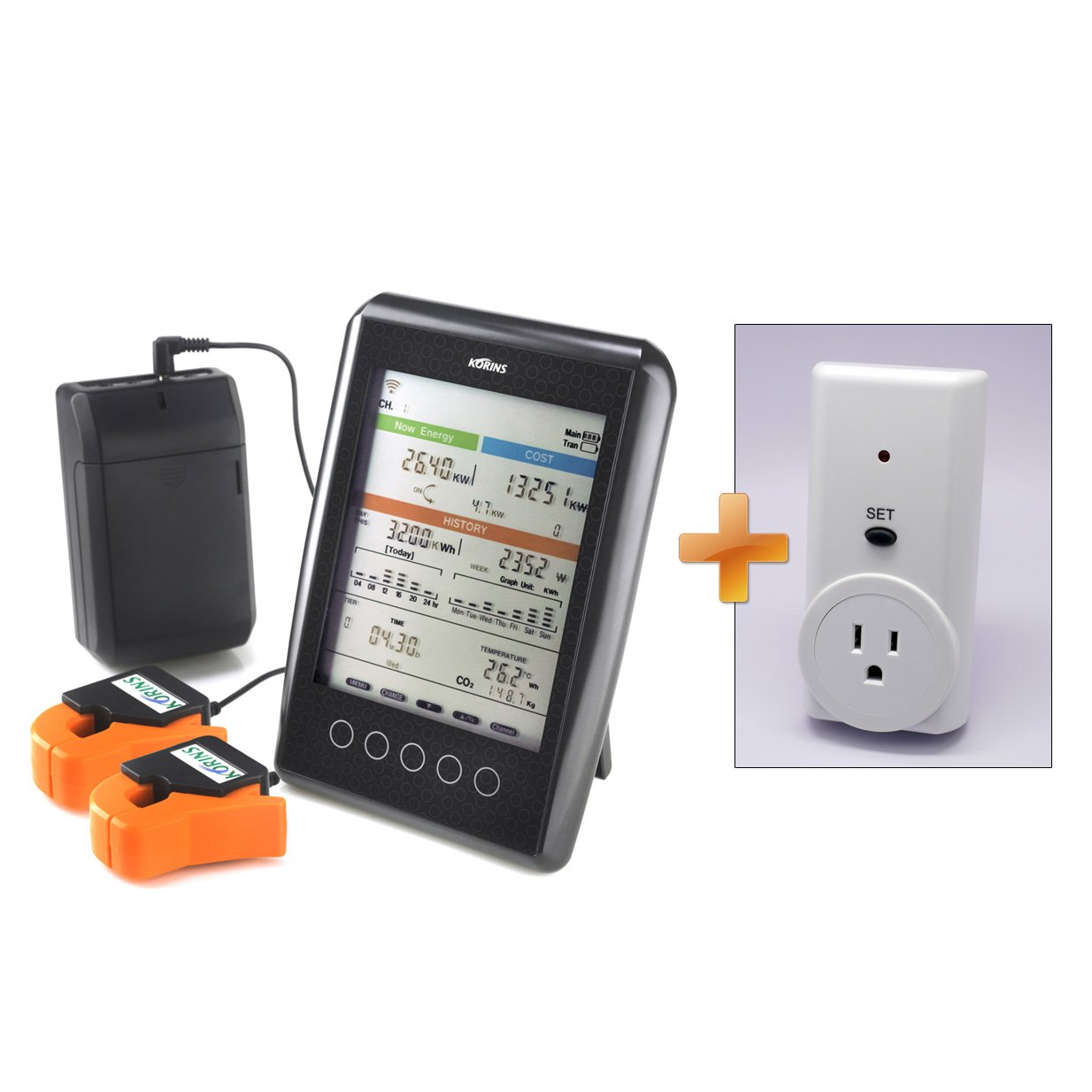 Korins MyWatt 10ch. Wireless Electricity Monitor, SEM3010B2 for USA