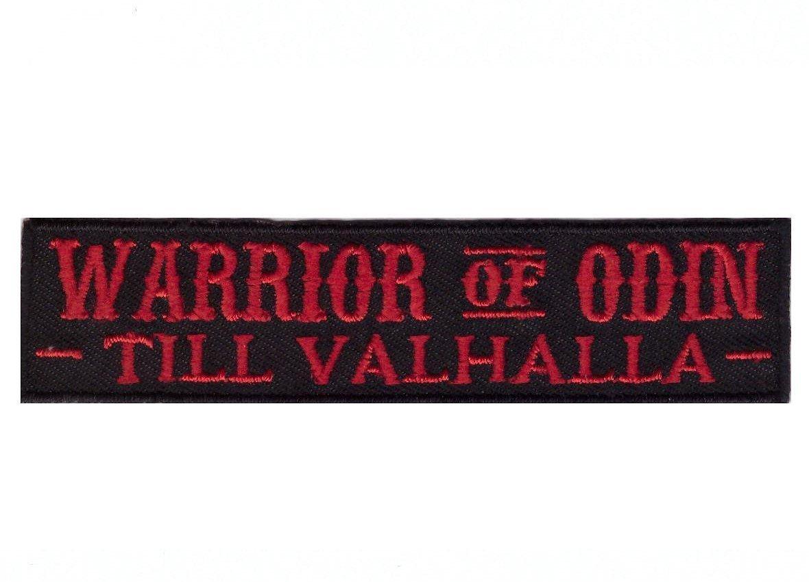 Hook Fastener Warrior Of Odin Vikings Morale Tactical Cap Bug Out Gear Patch Guerriero Di Odino Vichingo Toppa Ricamato Tattica Militarre Con Nastro Adesivo Per Il Fissaggio Da Titan One Europe