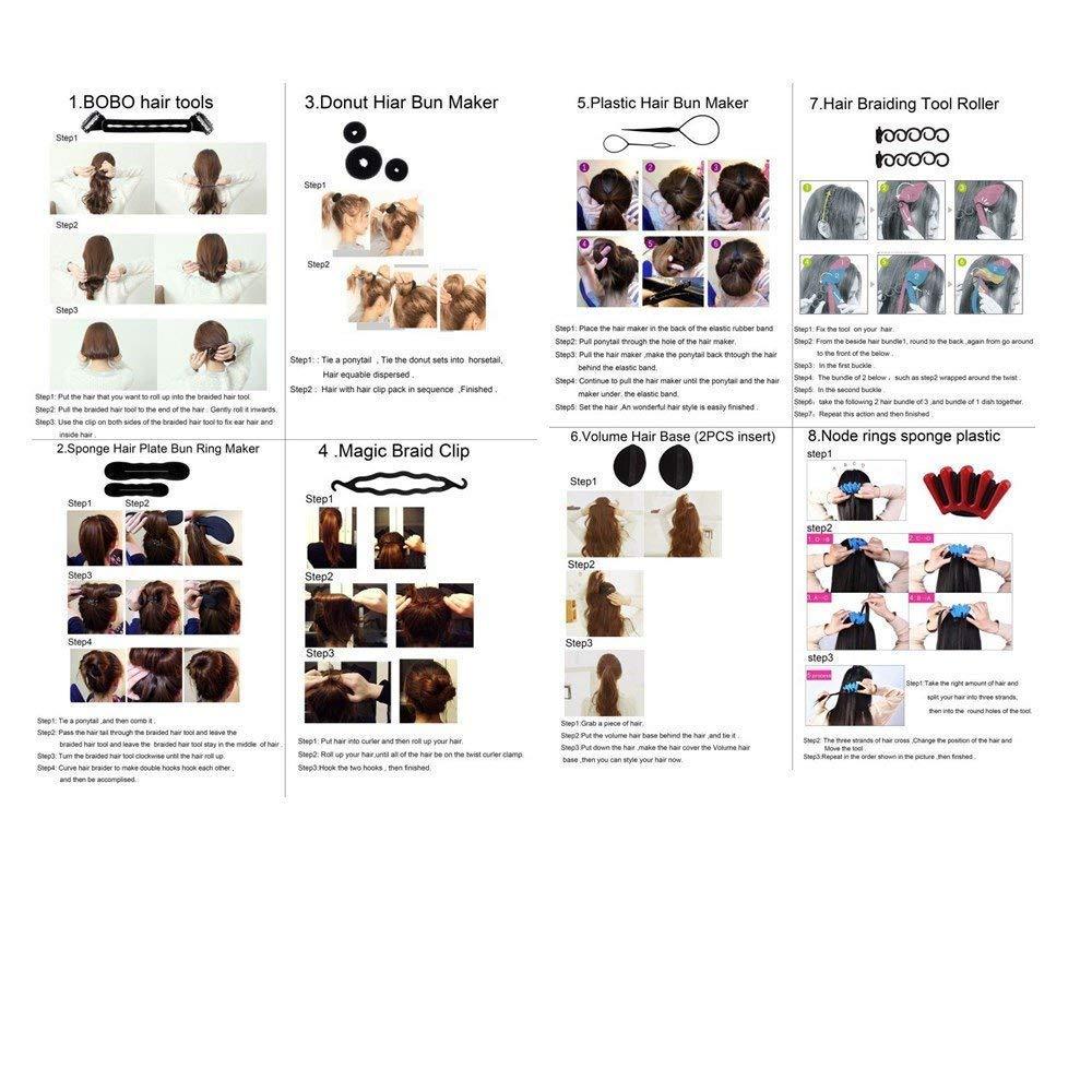 DELOVE- Hair Styling Set, Fashion Hair Design Styling Tools Accessories DIY Hair Accessories Hair Modelling Tool Kit Hairdress Kit Set Magic Simple Fast Spiral Hair Braid Hair by DELOVE (Image #8)