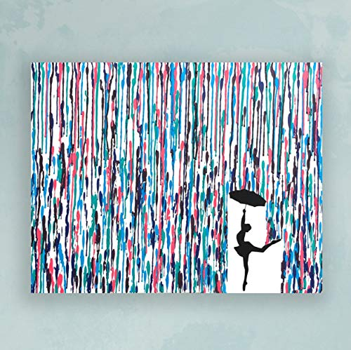 Dancing In The Rain Painting Melted Crayon Art Ballerina Gift Dancer Silhouette Gifts For Dancers 16x20