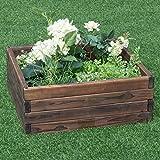 Cheap Giantex Square Raised Garden Bed Wood Outdoor Patio Vegetable Flower Rectangular Planter, Brown