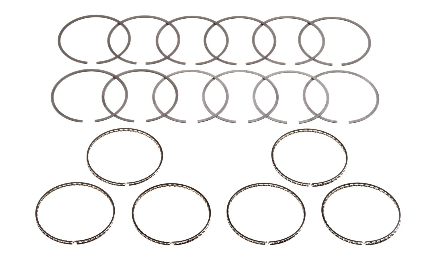 Hastings 2M5085020 8-Cylinder Piston Ring Set