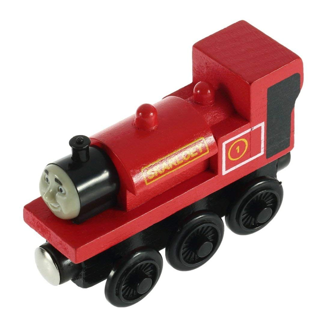 The Train Engine Wooden Child Toy 3 Pairs of Wheels Monllack
