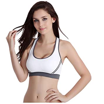 HARRYSTORE 2017 Mujeres Acolchadas Bra Top Athletic Vest Gimnasio Fitness Deportes Yoga Stretch: Amazon.es: Deportes y aire libre