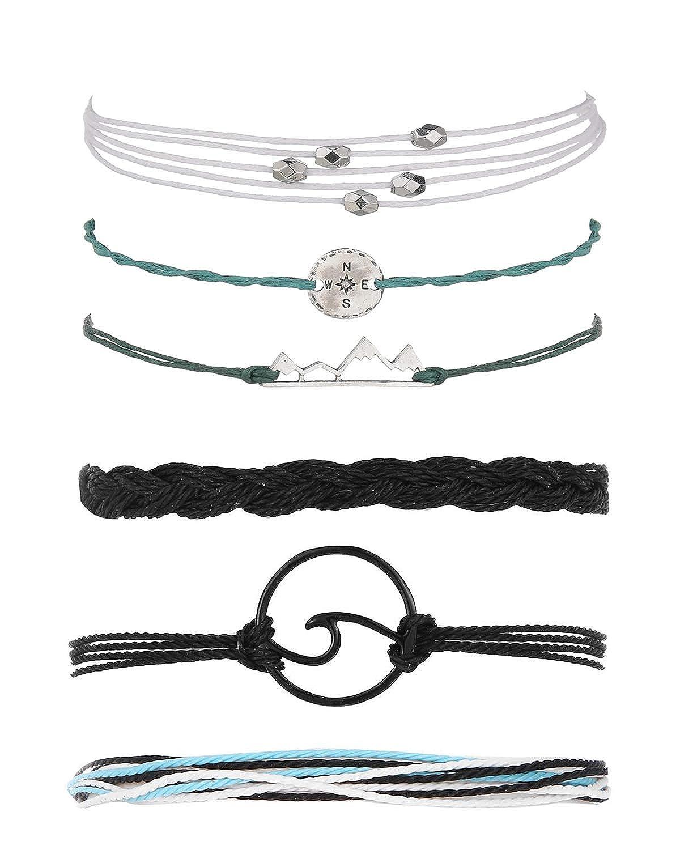 choice of all 3 Pcs Summer Surfer Wave Bracelet Adjustable Friendship Bracelet Handcrafted Jewelry Women