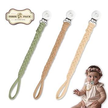 Amazon.com: Clips trenzados para chupete para niños y niñas ...