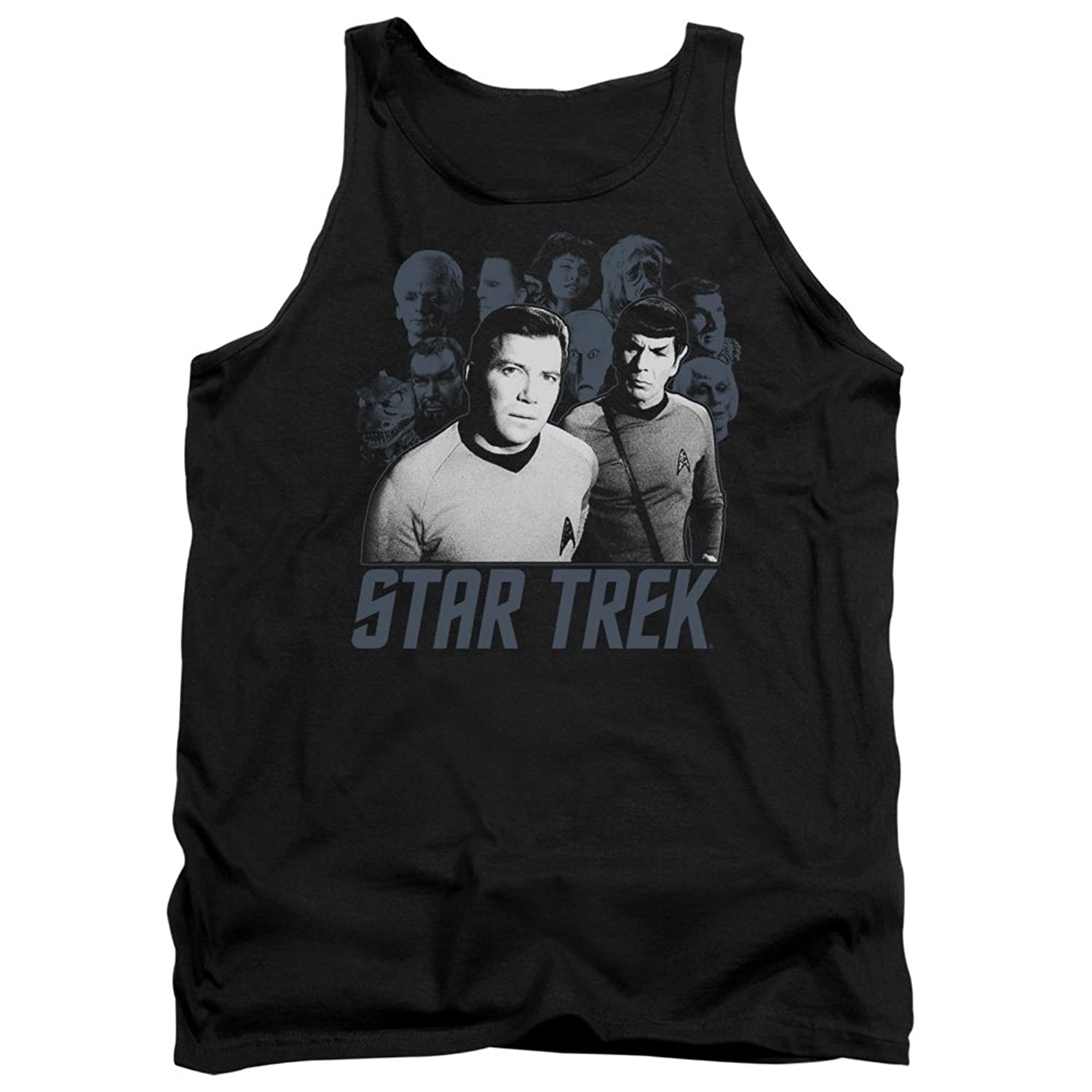 Star Trek Next Generation TV Series Kirk Spock And Company Adult Tank Top Shirt