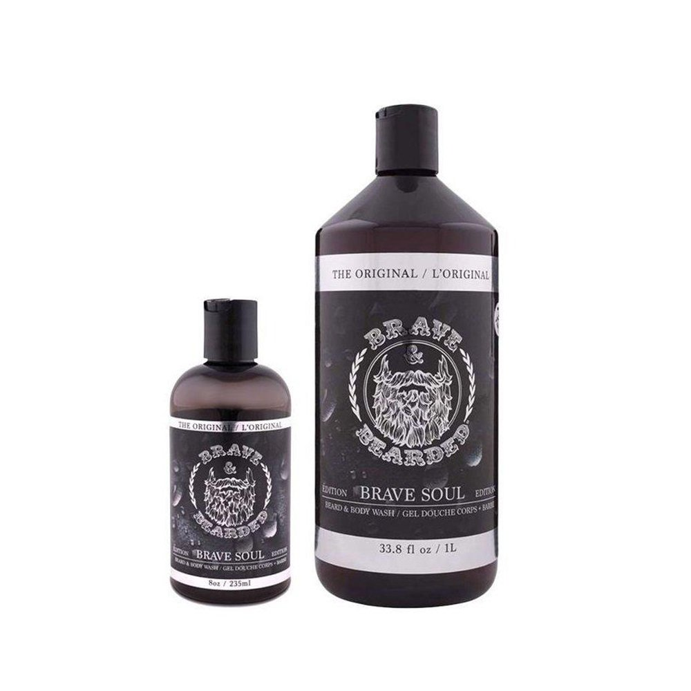Brave and Bearded Beard Shampoo and Body Wash (1 Litre) Brave and Bearded ®