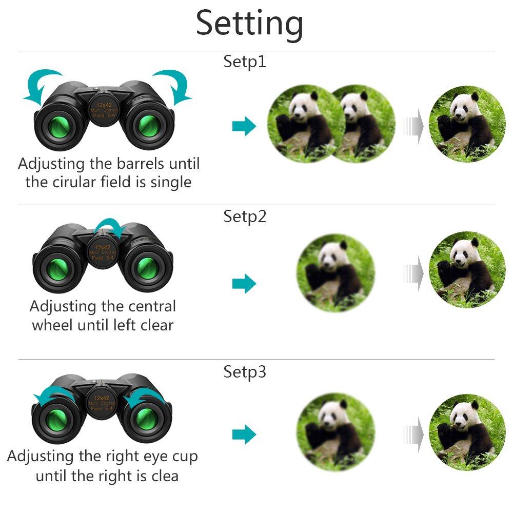 818359c2350 Amazon.com   12x42 Roof Prism Binoculars for Adults