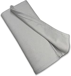 product image for SheetWorld Soft & Stretchy Swaddle Blanket 36 x 36, Silver Grey, Made in USA