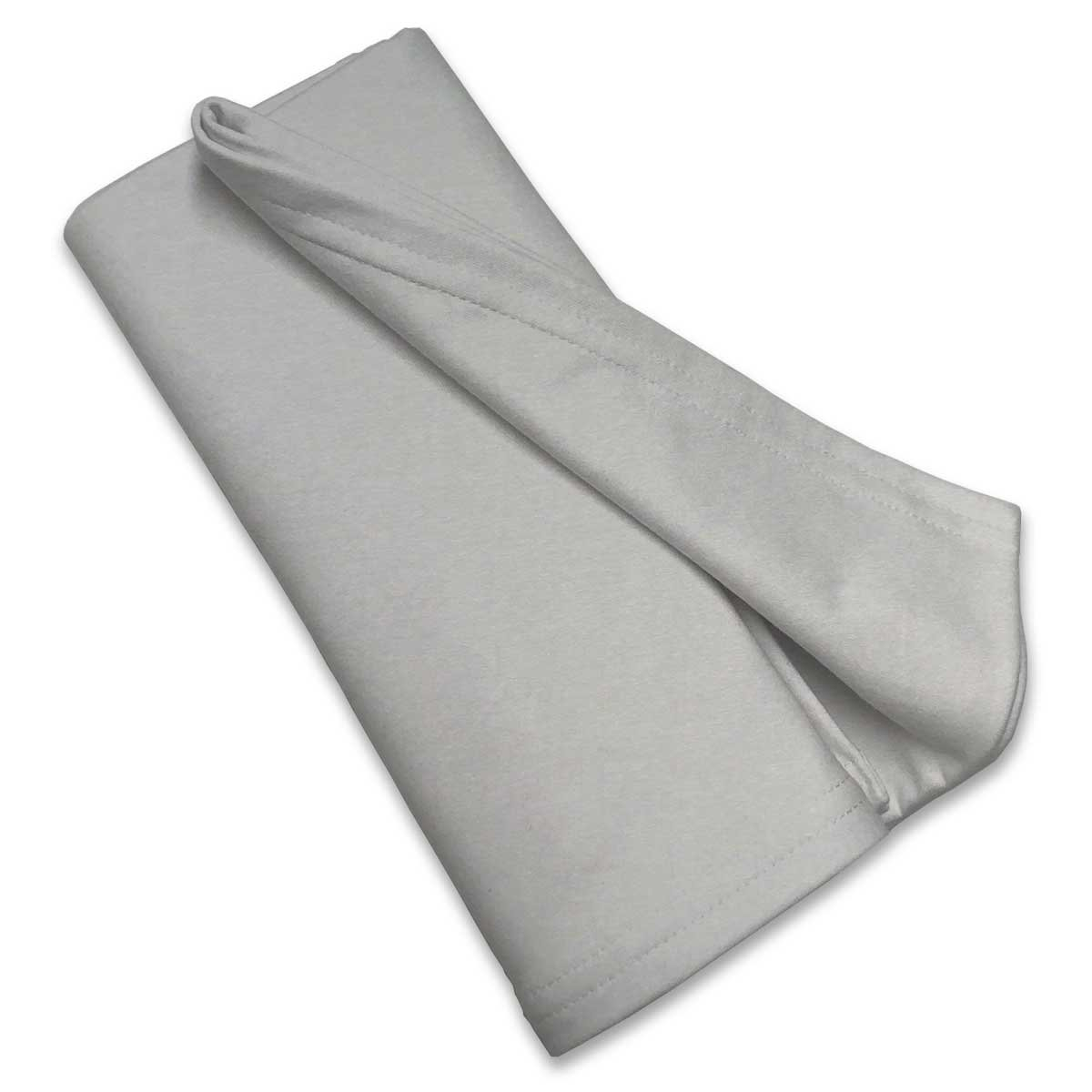 SheetWorld Soft & Stretchy Swaddle Blanket - Silver Grey - Made In USA
