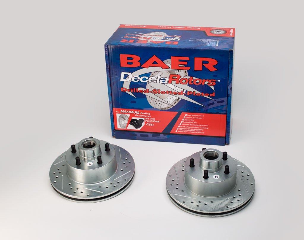 Pair Baeer Brakes BAER 05419-020 Sport Rotors Slotted Drilled Zinc Plated Front Brake Rotor Set