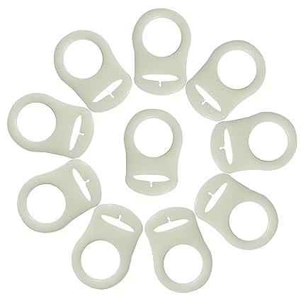 Gosear 10pcs Suave silicona adaptador porta anillos para ...