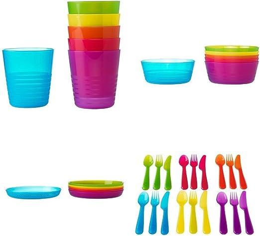 IKEA KALAS - Juego de cubiertos de plástico para niños (72 ...