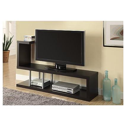 Monarch Hollow Core TV Stand, 60 Inch, Cappuccino