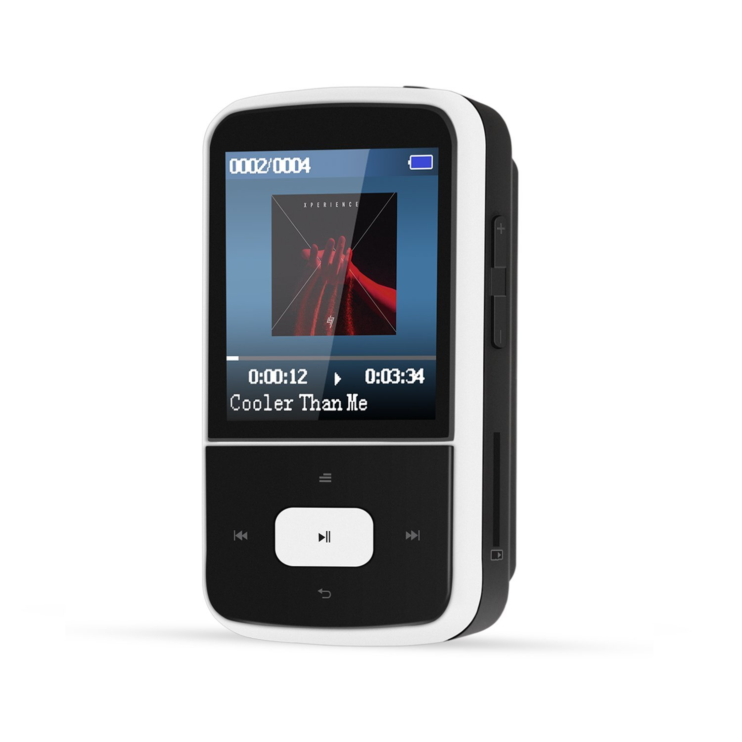 AGPTEK G05W 8GB Bluetooth MP3 Player, Clip Lossless Music Player with FM Radio, Supports Up to 64GB, Black