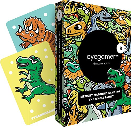 Eyegamer Memory Matching Card Game - Dinosaurs (Words Their Way Within Word Pattern Activities)