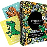 Eyegamer Memory Matching Card Game for Kids and Adults - Dinosaurs - Learn and Improve Memory, Focus and Concentration - Memorize and Match Colorful Cards with Dinos - 52 Cards