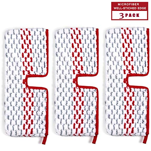Mop Refills Replacement Pads Spray Replacement Mop Head Microfiber Washable Reusable Red