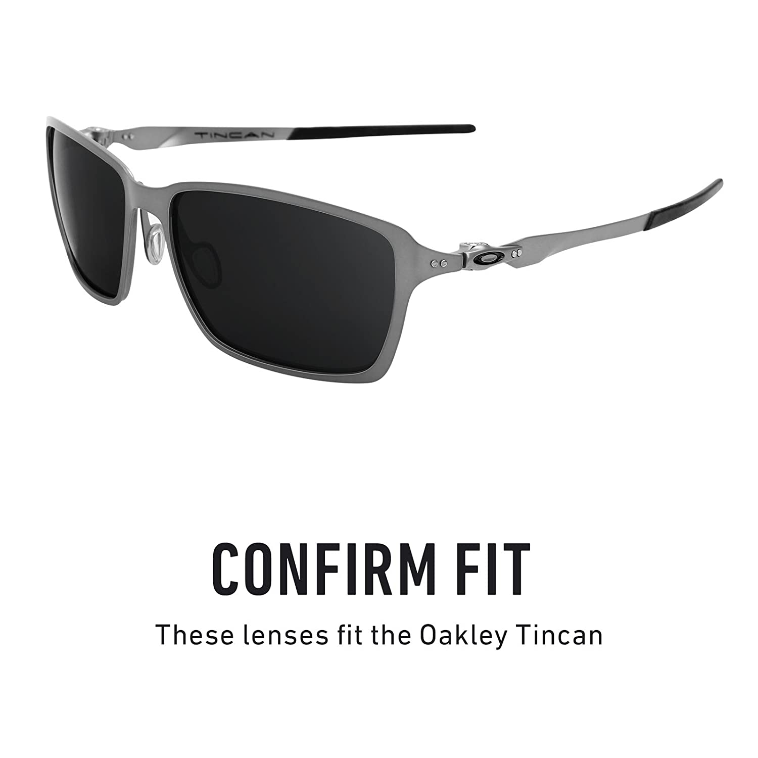 d1b78b6aabf Revant Replacement Lenses for Oakley Tincan Elite Adapt Grey Photochromic   Amazon.co.uk  Clothing