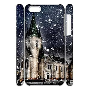 3D That Winter IPhone 5C Case for Girls Protective, Case for Iphone 5c for Women [White]