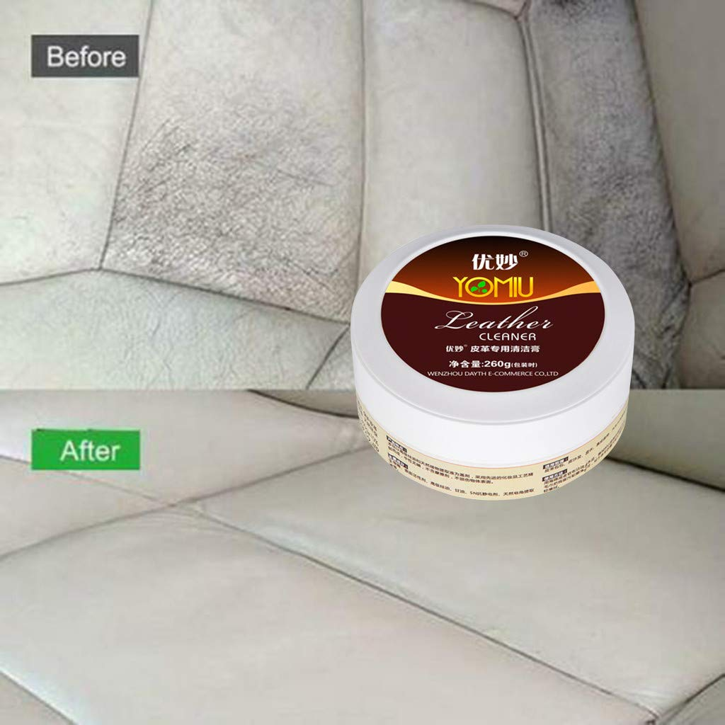 Restore /& Repair Color to Faded and Scratched Leather for Furniture Cleaning Cream Repair Tool Cream Multifunctional Leather Refurbishing Agent Sofa 260g Solution to Renew Multicolor, A