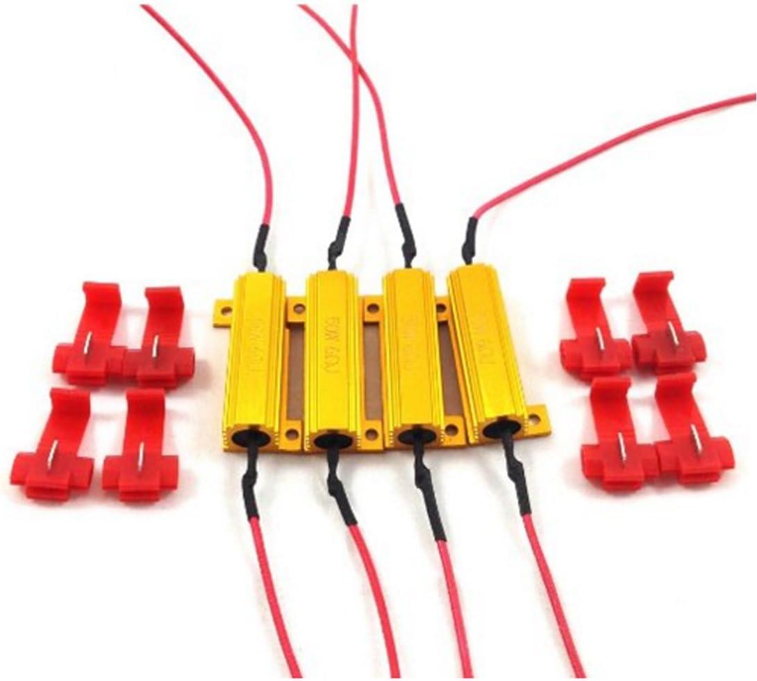Resistencias de carga para bombillas LED (4 unidades, 50 W, 6 ohm ...