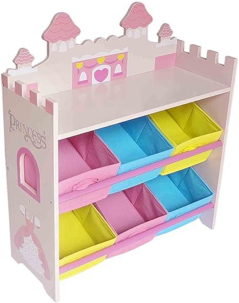 Kiddi Style Cajas Almacenaje Juguetes Castillo de Princesas – 6 ...