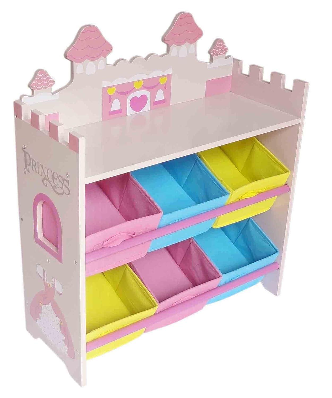 Prinzessinnen Kinderregal Mit 6 Boxen Stylisches Prinzessin