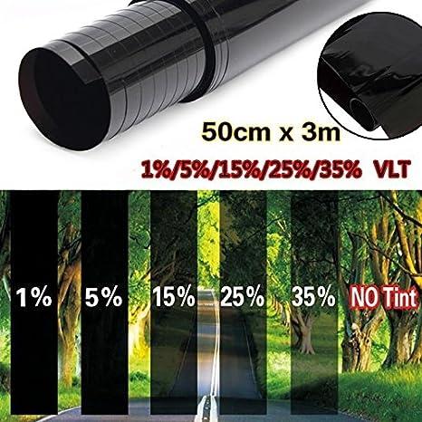 Gaosheng visione auto specchio Pellicola autoadesiva protezione solare pellicola oscurante Pellicola Oscurante Pellicola Oscurante Rotolo di pellicola nero protezione UV antigraffio 50/cm X 3/m