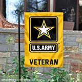 "Our US Army Veteran Garden Flag is perfect for your garden, yard or home entrance! This Officially Licensed Garden Flag and Yard Flag measures 12"" x 18"", has a Double Stitched border, a top sleeve, and is made of 1 Ply Polyester so the logos are View..."