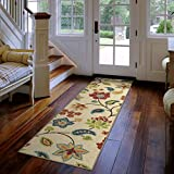 """Orian Rugs Floral Garden Chintz Ivory Runner Rug (1'10"""" x 7'5″) Review"""