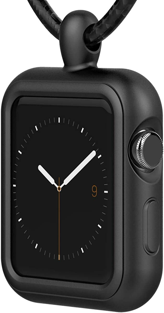 Silicone Maid LLC Compatible with Apple Watch 38mm 40mm 42mm 44mm Necklace Pendant Silicone Case Cover Replacement for iWatch Pendant Series 6 Series 5 Series 4 Series 3 Series 2