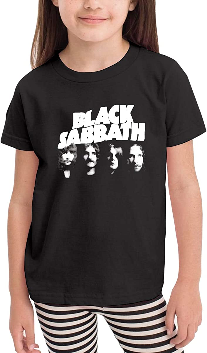 Simple Style for 2-6 Years Old Children Mialy Black Sabbath 02 Toddler Boy and Girl Printing Cotton Short Sleeve T-Shirt