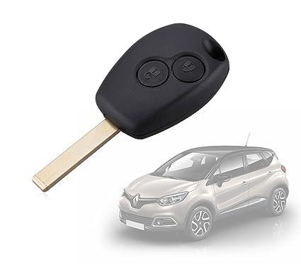 MWS2297 Carcasa para llave de coche con control remoto compatible con RENAULT (2 botones)