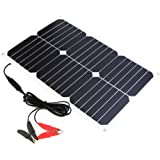 ALLPOWERS Solar Battery Maintainer 18V 12V 18W Solar Car Boat Power Panel Battery Charger Maintainer for Automobile Motorcycle Tractor Boat Batteries