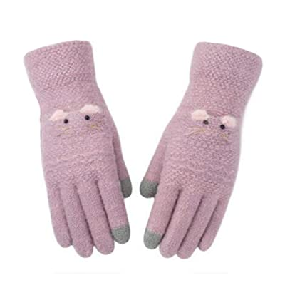 Outdoor Winter Soft Gloves Warm Gloves Thanksgiving Xmas Christmas Gift ,#J