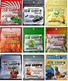 Ice Chips Birchwood Xylitol Candy in Resealable Pouches - Low Carb, Gluten Free, Keto Friendly (9 Flavors)