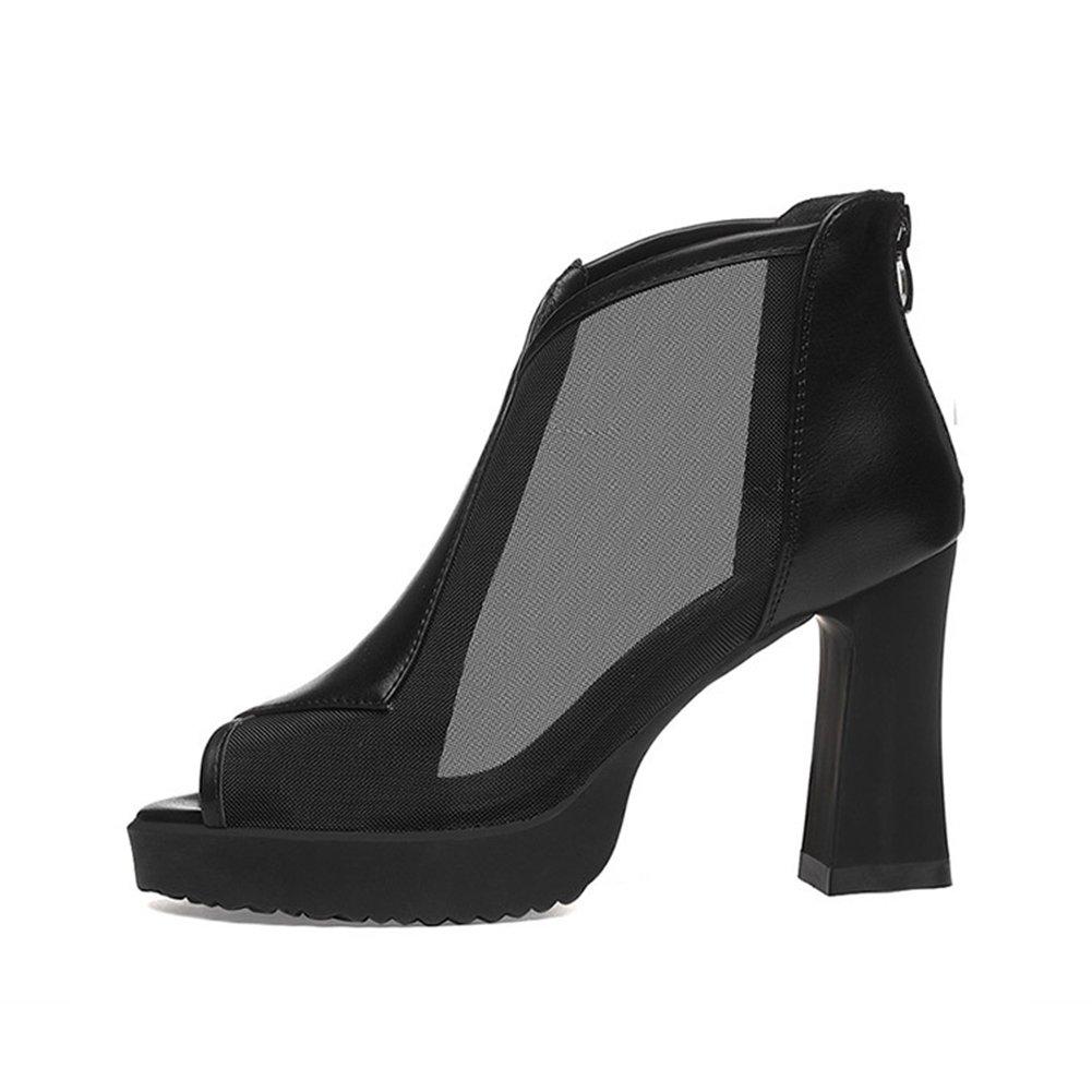 Sandalias Tipo Ms Verano Heel Zapatos Mujer Thick De Primavera wIIXEq