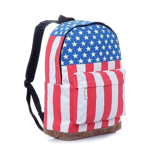 Gracefulvara School Bag Backpack Shoulder Bag American flag
