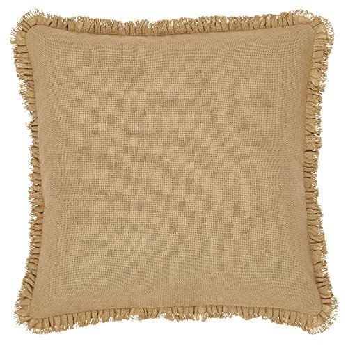 (VHC Brands Burlap Euro Sham with Fringed Ruffle )