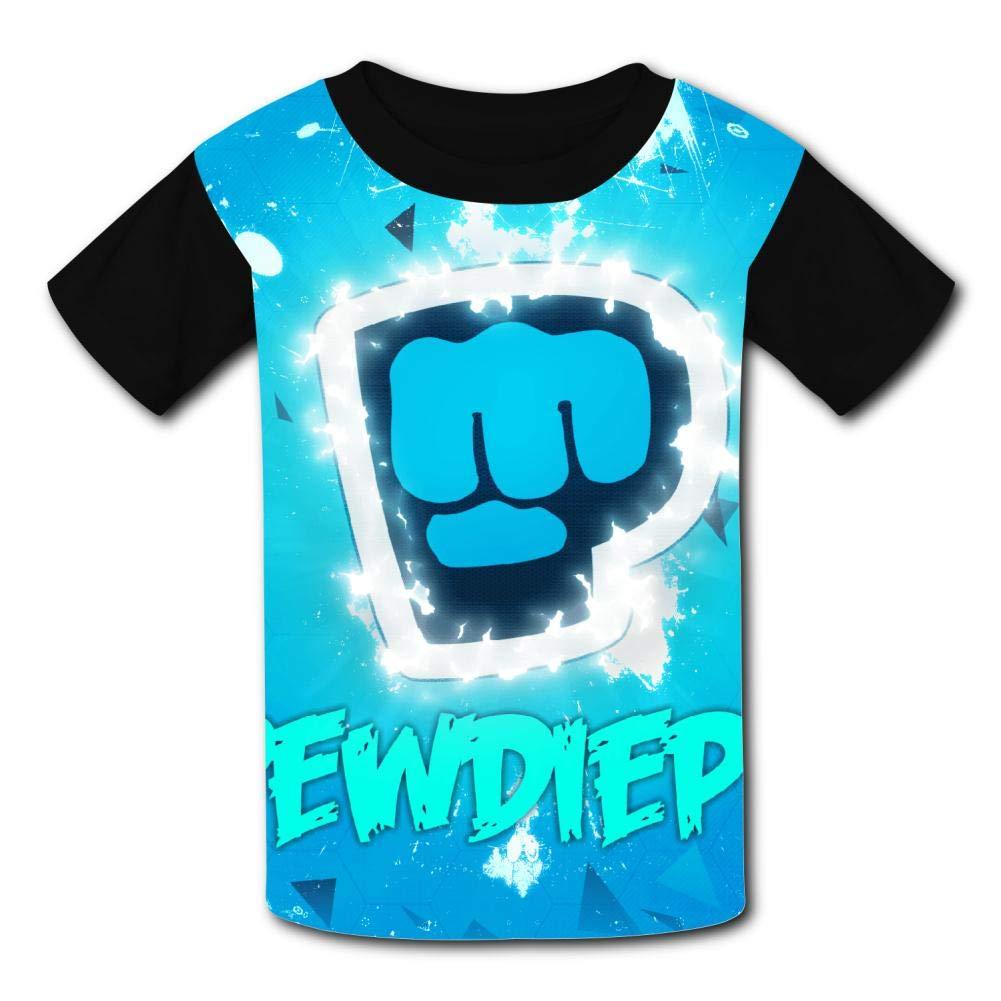 Kgtbvkg Kids T Shirt Pew-Die-Pie Print Short Sleeves Shirt Top Tees for Girl Boy