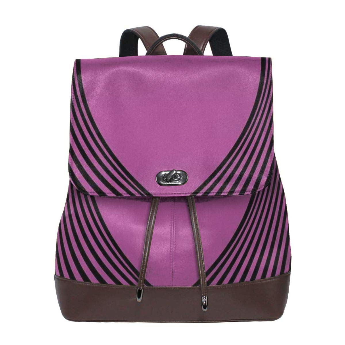 fe008aaa2c77 Amazon.com | Women's leather backpack, Heart Shape With Twisting ...