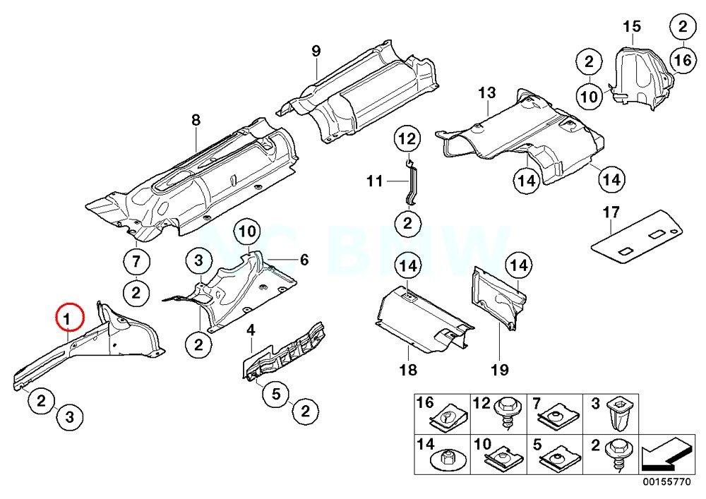 Amazon Com Bmw Genuine Right Engine Mount Heat Shield Automotive