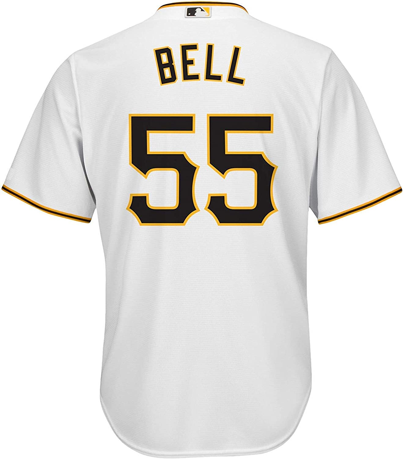 Josh Bell Pittsburgh Pirates White Kids 4-7 Cool Base Home Jersey