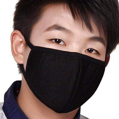 3×Masques Extérieur Anti-poussière et Anti-haze PM2.5 Mince Respirant Anti-Bactérienne Masque Soins de Santé Earloop Bouche Visage Masque de Protection Respiratoire chaud pour Moto Vél